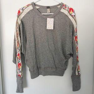 NWT Free People Wallflower Pullover Sweatshirt